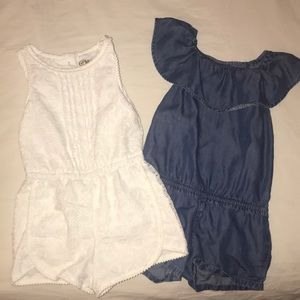 Dressy toddler romper shorts (2)